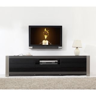 Ayla Grey High Gloss Stainless Steel Ir Remote Compatible Tv Stand Ping Great Deals On Entertainment Centers
