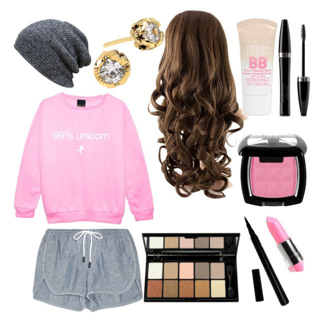"""""""Pink Lazy Day"""" by tiedyed-infinity on Polyvore featuring rag & bone, Diane Von Furstenberg, Maybelline, Mary Kay and NYX"""