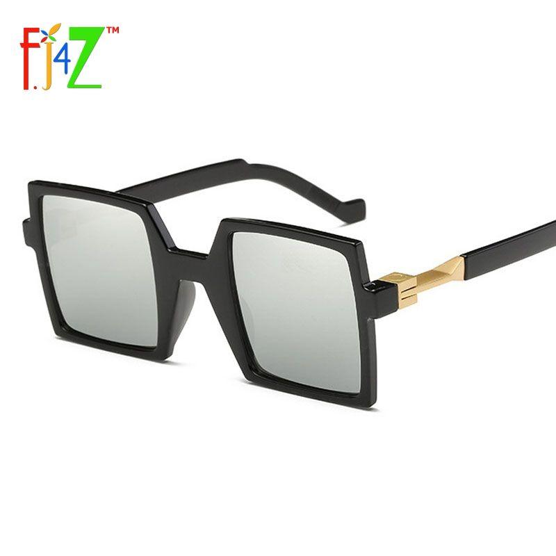 0b2006c7cb9 F.J4U Vintage Men s Sunglasses Fashion Designer Exclusive Square Frame Eye  Shades Women Sun Glasses