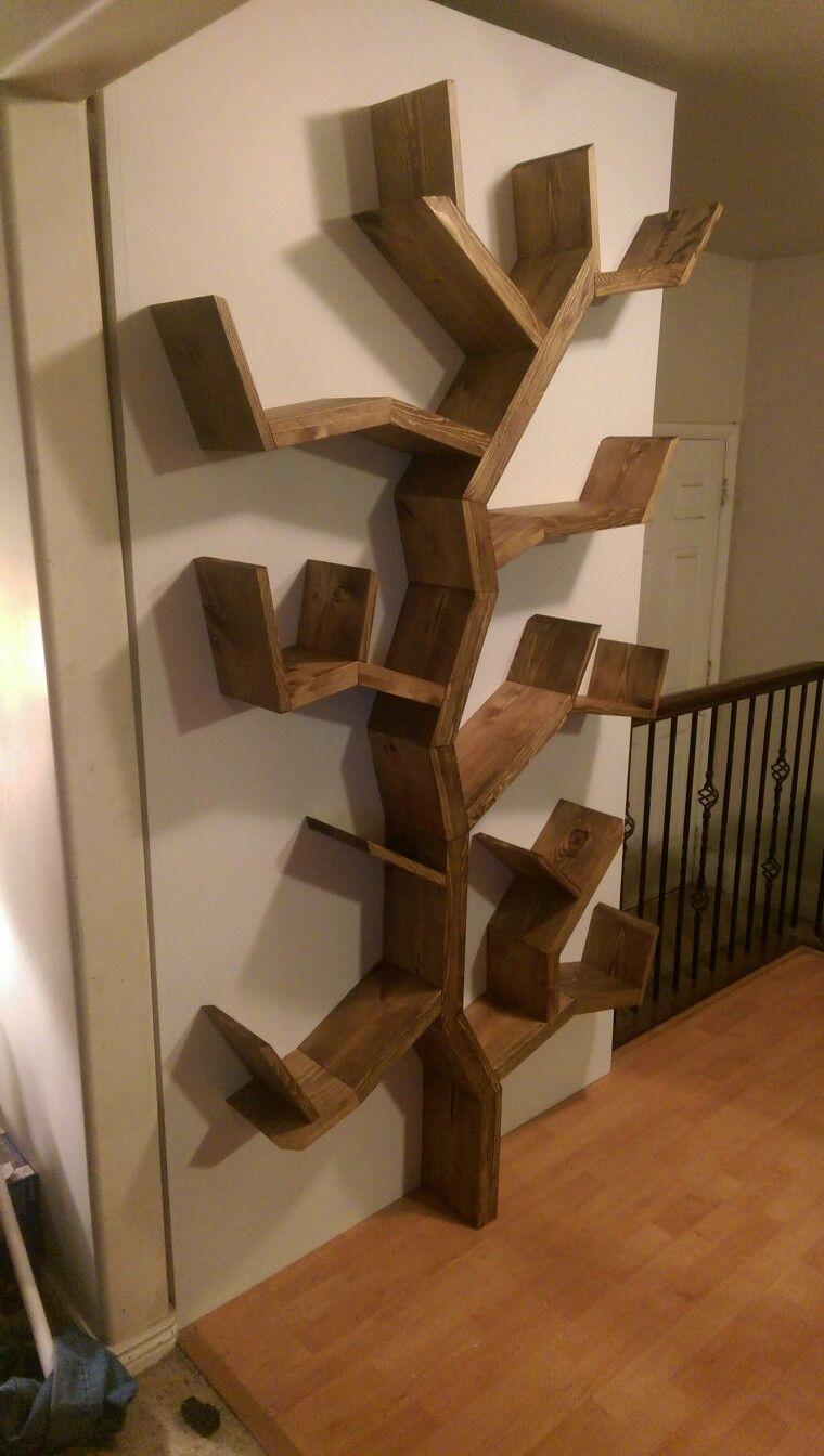 DIY Tree Bookshelf By Sows Ear Farm House Design On Facebook