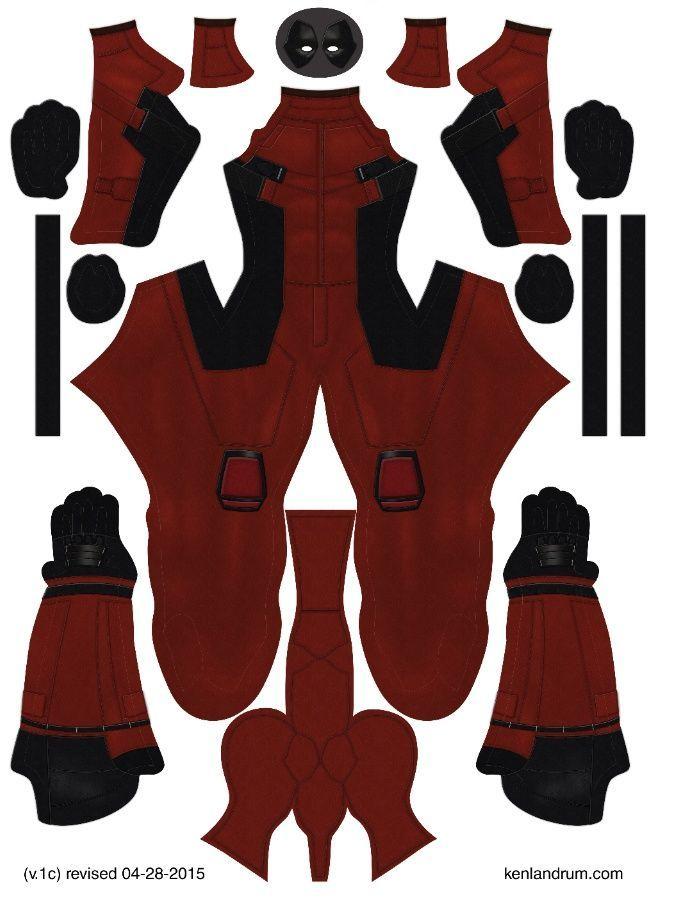 Deadpool Mask Template | Deadpool Movie Pattern By Ken Landrum V 1c Super Hero Lovers