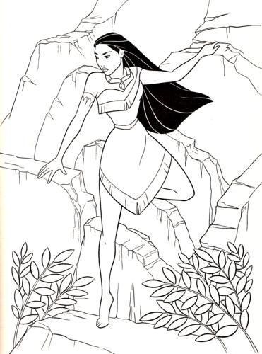 Walt Disney Coloring Pages - Pocahontas Hintergrund in The Walt ...