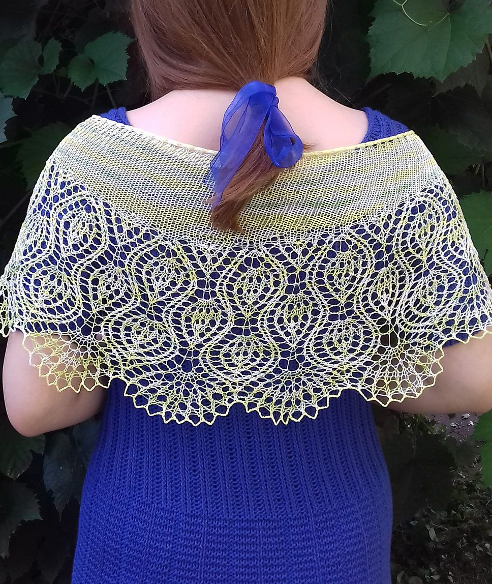 Free knitting pattern for pineapple delight shawl cresent shaped free knitting pattern for pineapple delight shawl cresent shaped shawl featuring pineapple lace motifs bankloansurffo Gallery