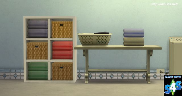 Sims 4 CC's - The Best: Laundry Decor by Simista