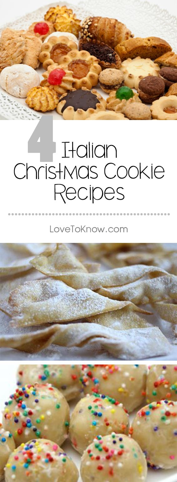 4 Recipes for Italian Christmas Cookies | Christmas | Christmas ...