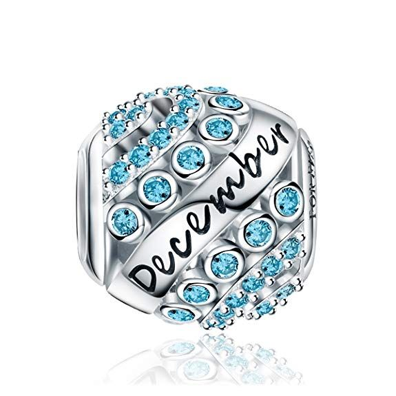 ae04be0d9dbc3 Amazon.com: Forever Queen December Birthstone Charms for Pandora ...