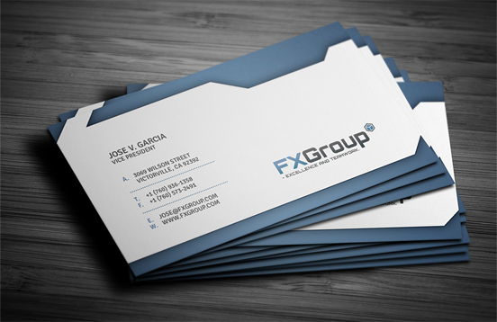 Design] great movement in FX Group business card design   Business ...