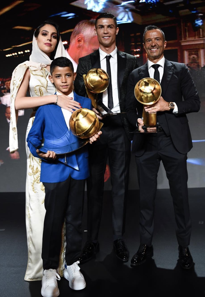 Image result for ronaldo dan georgina rodriguez di ballon d'or
