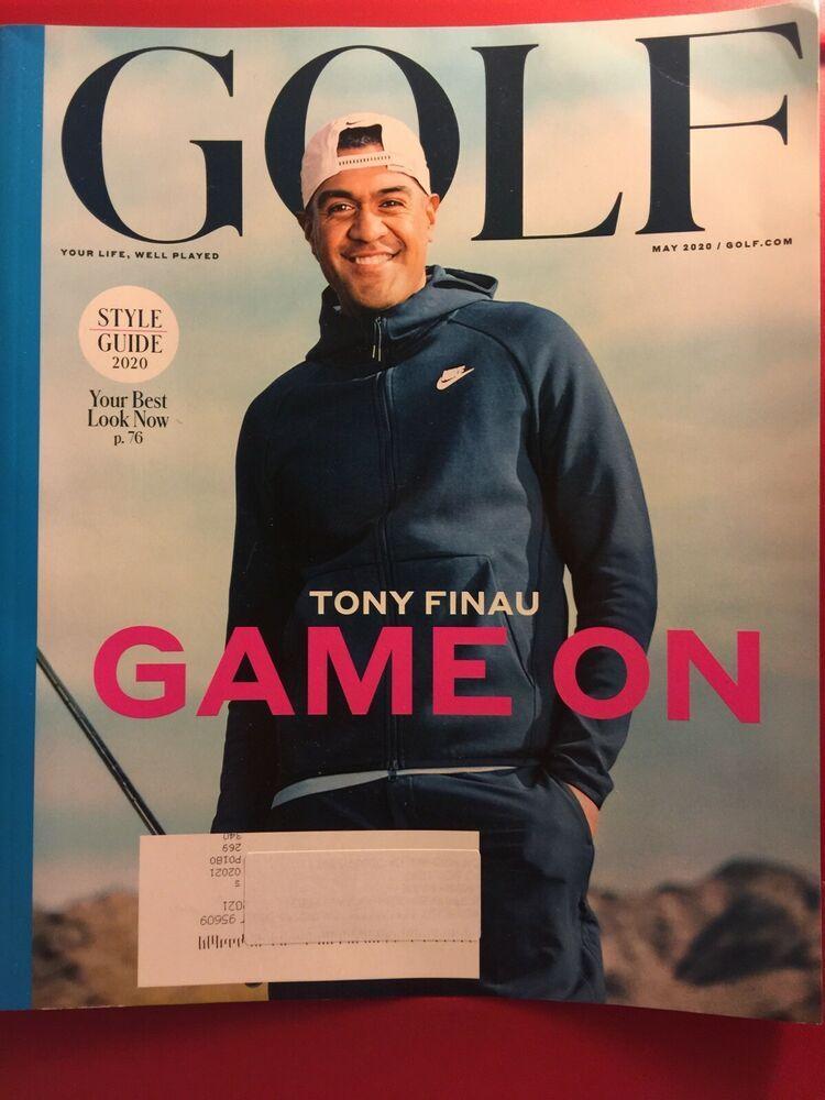 GOLF Magazine, MAY 2020 TONY FINAU on COVER GAME ON 2020