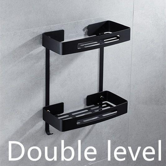 Stainless steel 304 Black bathroom corner shelf shower room rack for