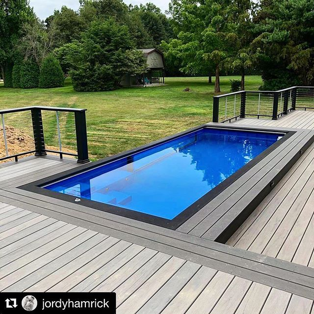 What A Great Modpool Setup We Love The Deck And Railings