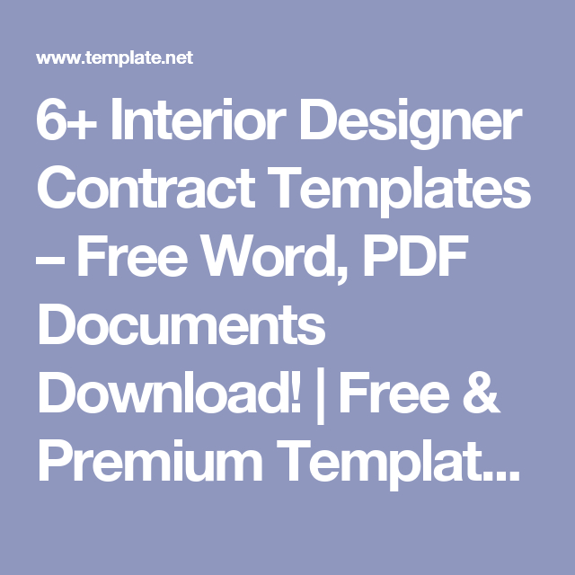 6 Interior Designer Contract Templates Free Word PDF Documents Download