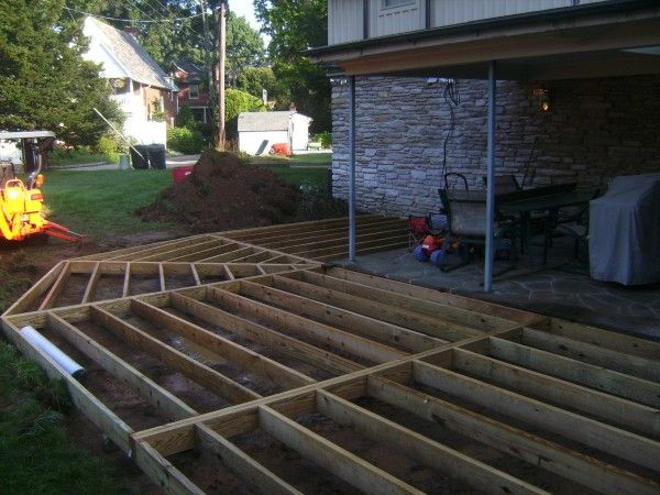 Deck Addition Extension To Concrete Patio Gam Construction Concrete Patio Deck Addition Patio