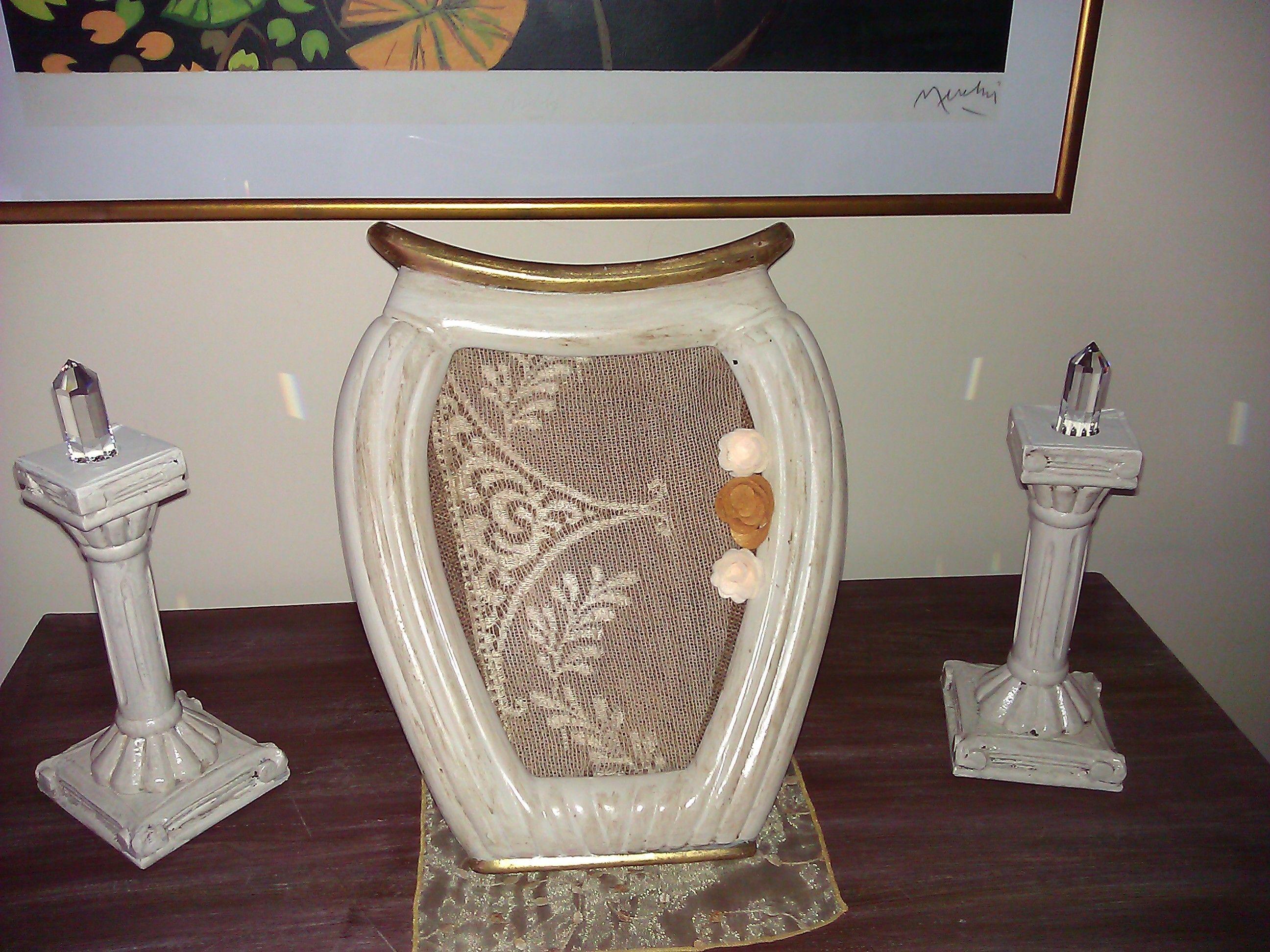 Accessori Bagno Shabby Chic Line Cornice a forma di vaso in stile shabby lo