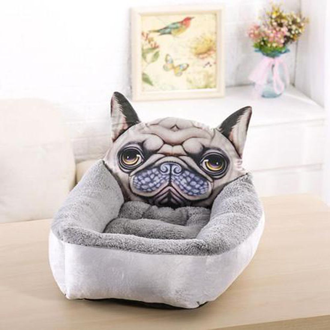 Frenchie Face Bed Available In Small Or Large S 40 X 50cm L
