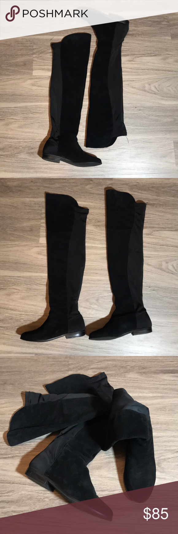 76a91ed7e76 CHINESE LAUNDRY over the knee boots Black suede Over the knee boot.  Beautiful boots.