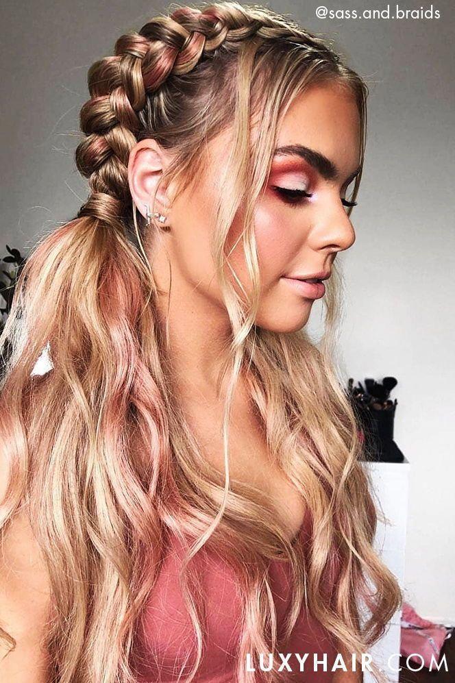 Rope Braid Hairstyles 20 Cute Ideas For 2019 In 2020 Braids For Long Hair Rave Hair Festival Hair