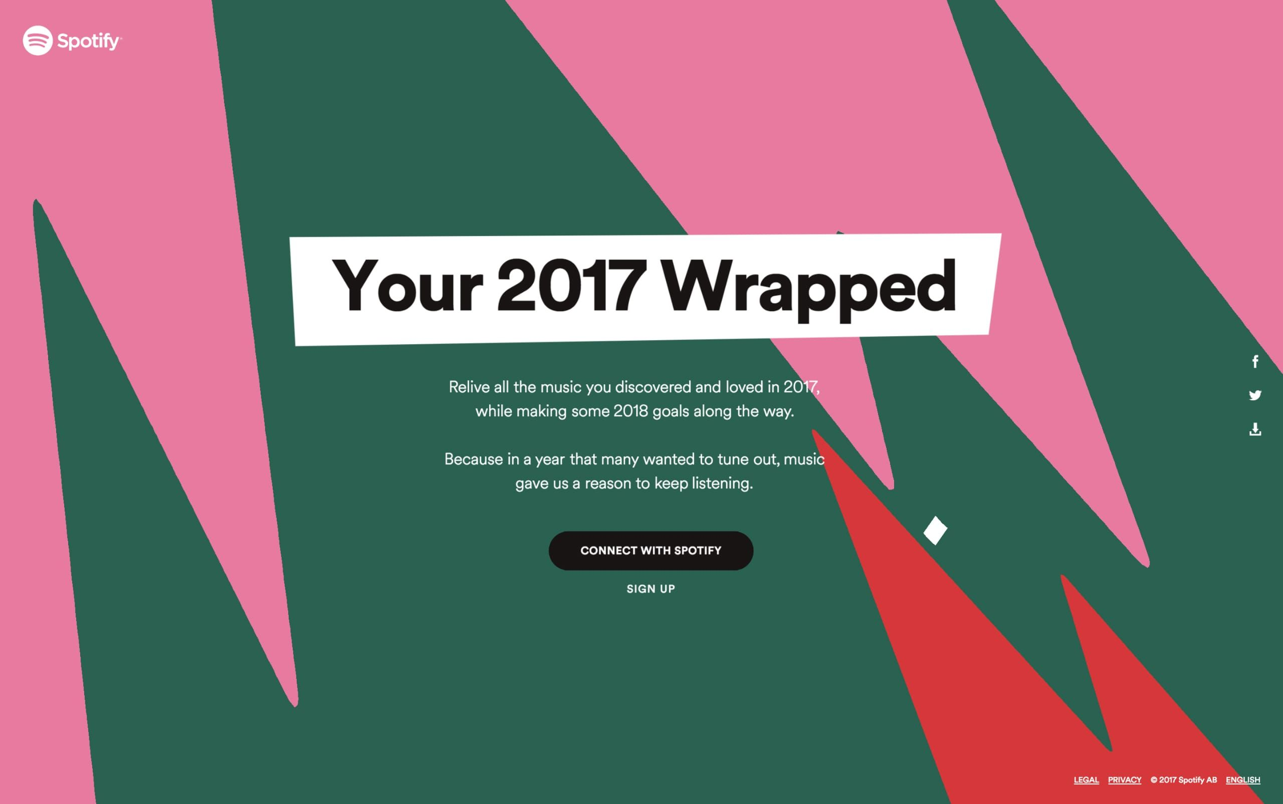 Your 2017 Wrapped Big Screenshot Web design trends