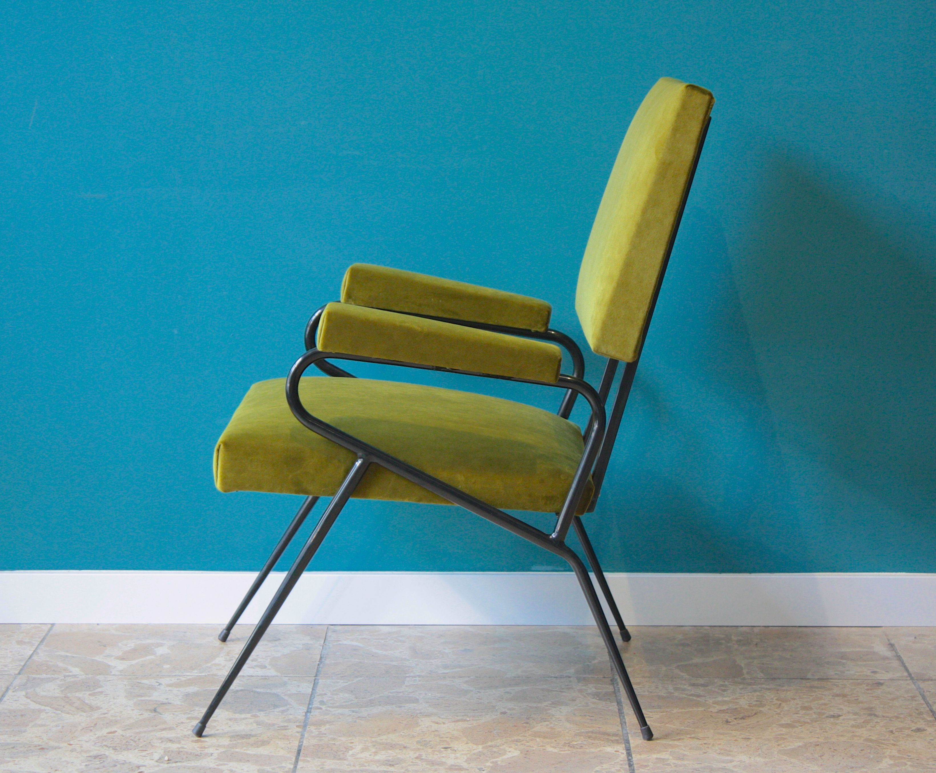 Vintage Italian Chair Ca 1950 Ies Reupholstered Coroto  # Muebles Corotos