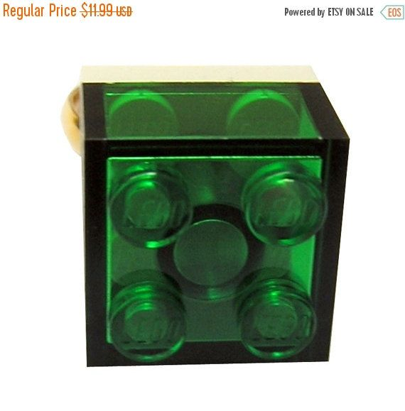 ON SALE Transparent Green LEGO R brick 2x2 on by MademoiselleAlma #MademoiselleAlma #LEGO #ETSY