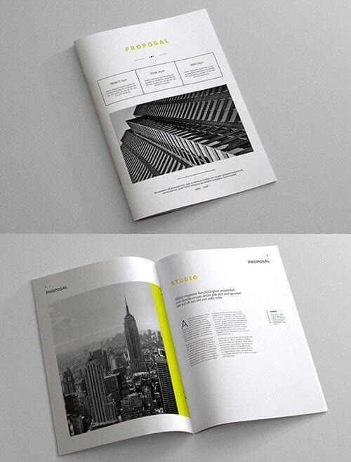 12 Contoh Desain Cover Proposal Paling Menarik Meyakinkan Brochure