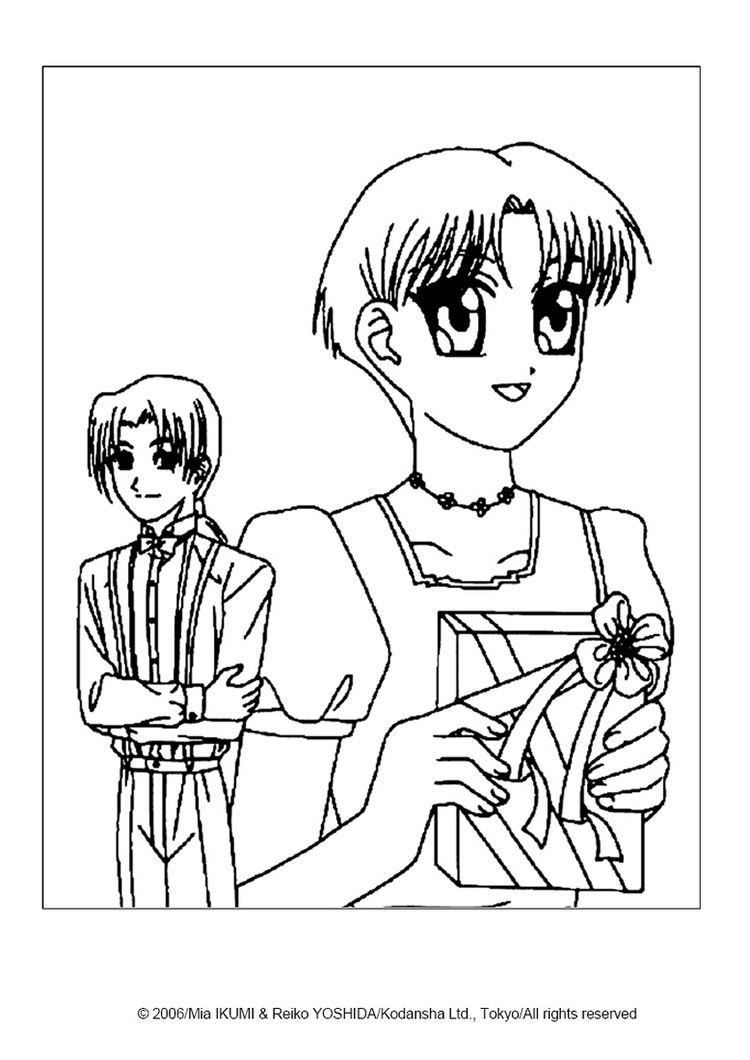 Mew mew power alien coloring page. More Tokyo Mew Mew coloring ...