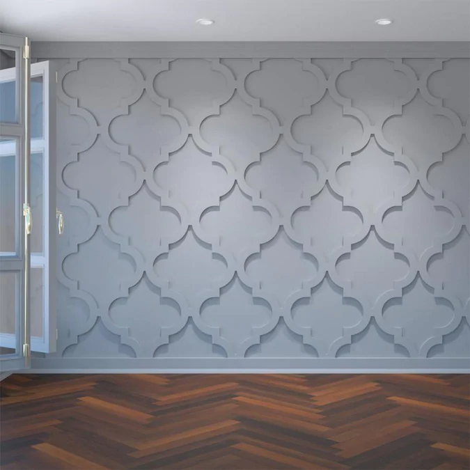 Ekena Millwork Large Marrakesh Fretwork 23 3 8 In X 23 3 8 In Smooth White Wall Panel Lowes Com In 2020 Decorative Wall Panels Pvc Wall Panels White Wall Paneling
