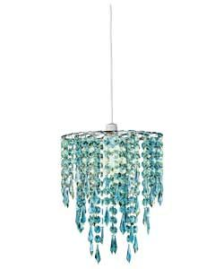 Living Beaded Light Shade Duck Egg 13 29 Pendant Light Shades Light Shades Beaded Lampshade