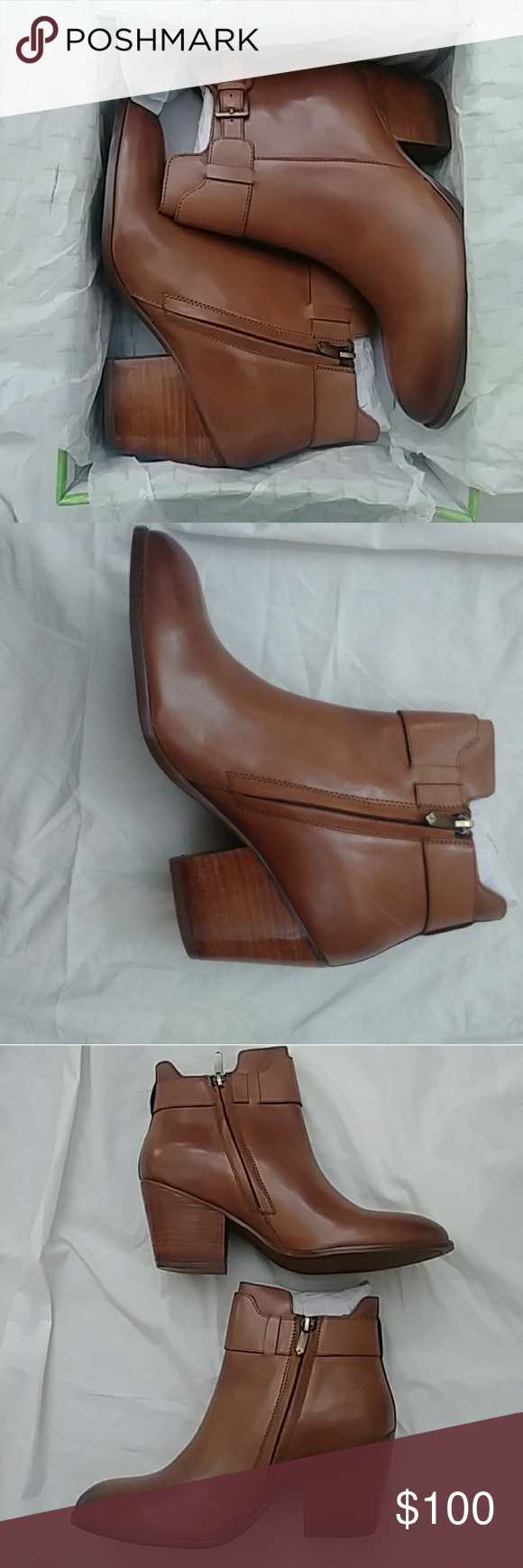 bb855558b9676 Women s Sam Edelman Ankle Boots Size 8.5 Brand New. Melody Cognac Leather Ankle  Boots. Size 8.5 Sam Edelman Shoes Ankle Boots   Booties