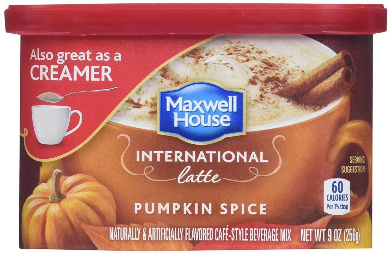 Maxwell house international latte pumpkin spice pack