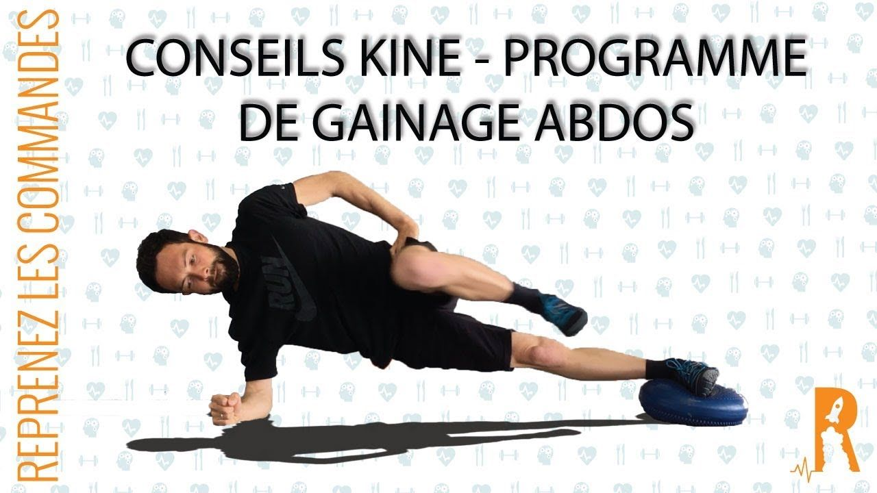 Exercice du sport en Vidéos : Séance Gainage ABDOS complet