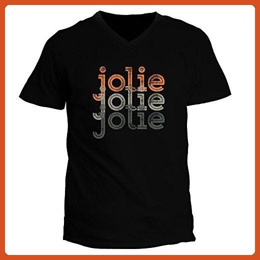 Idakoos - Jolie repeat retro - Female Names - V-Neck T-Shirt - Retro shirts (*Partner-Link)