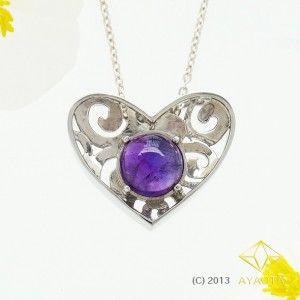 Amethyst Heart - AYAOTA, Amethyst,Silver, Pendant