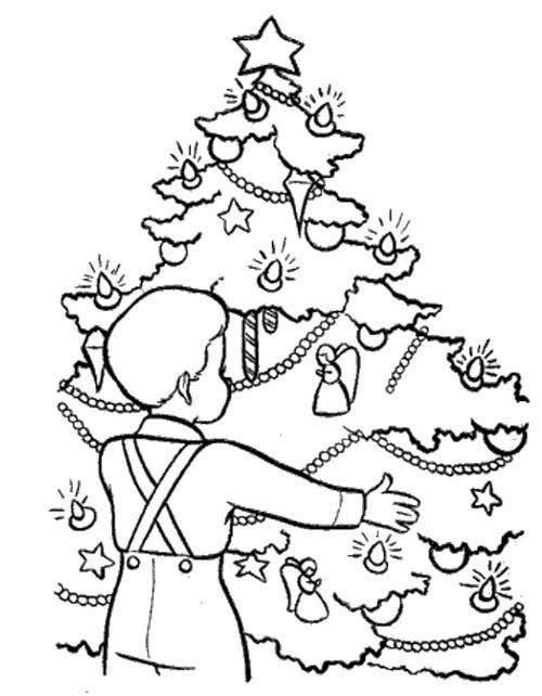 Christmas Eve In Germany Coloring Page Christmas Coloring Pages
