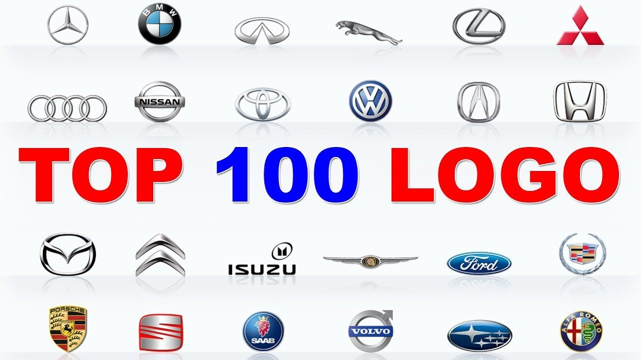 Top 100 Logo Cars 100 Best Car Brands Learn Car Brands With Red Cat Youtube 100 Logo Car Brands Logos