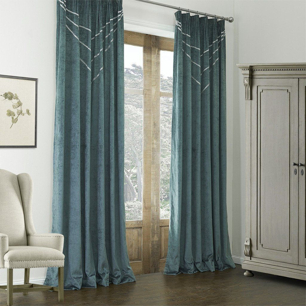 Amazon Leyden Double Pinch Pleat Polyester Cotton Blend Curve Neoclassical Curtain Drapes Multi