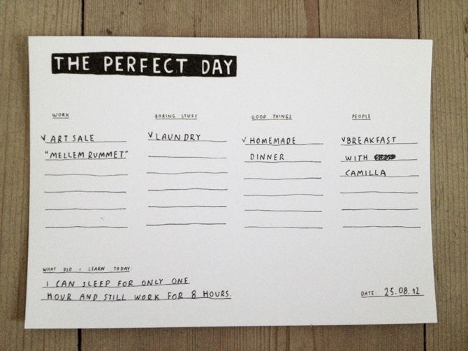 THE PERFECT DAY by My Buemann