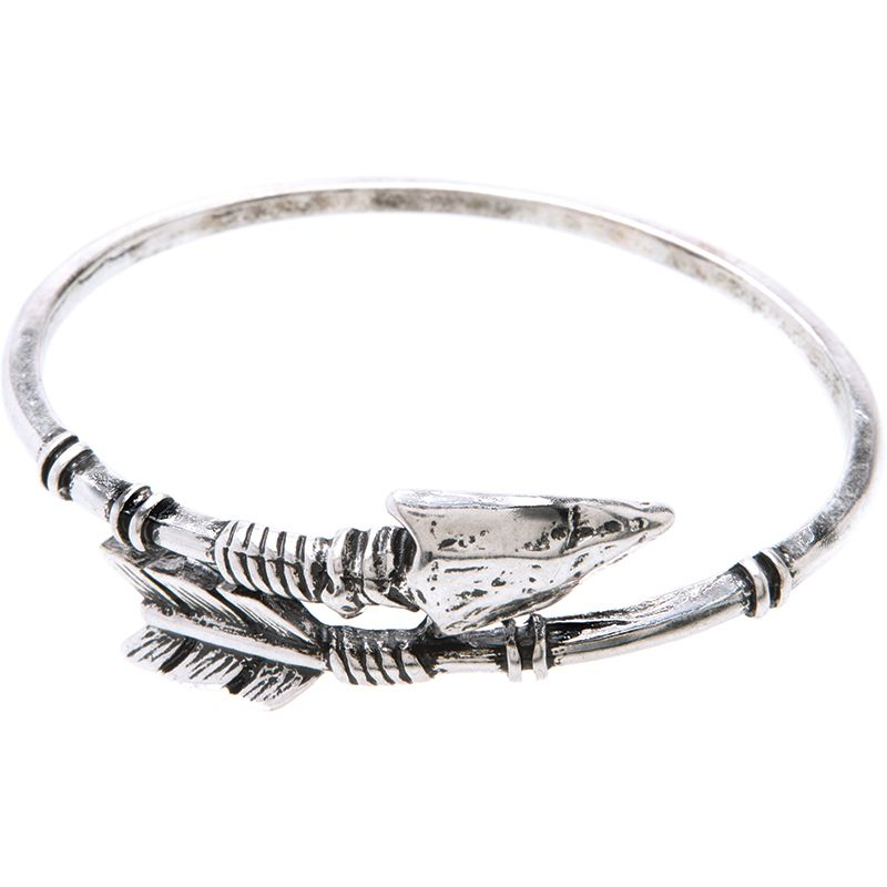 ladies bangles silver jewelry in adjustable cuff pulseiras women item bracelets from open womens bracelet gothic arrow punk bangle