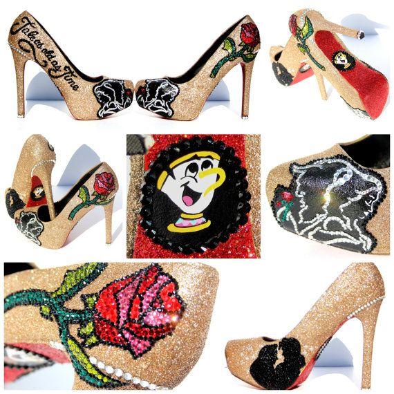 6d913b06f9 5-Zoll-Heels Beauty und Beast-Hochzeit-Heels von WickedAddiction Mehr