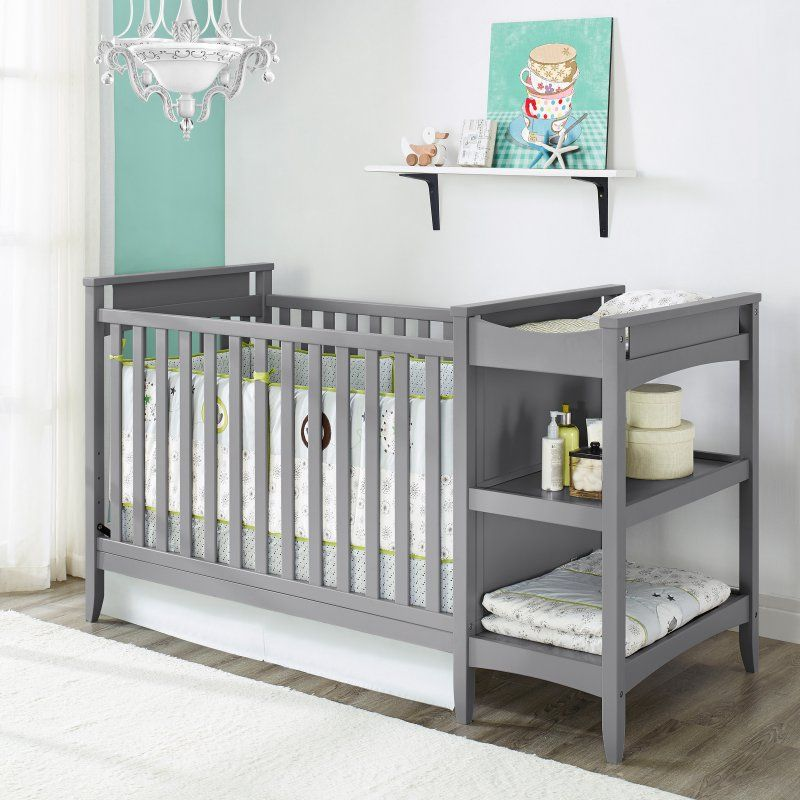 Baby Relax Emma 2-in-1 Convertible Crib and Changing Table Combo ...