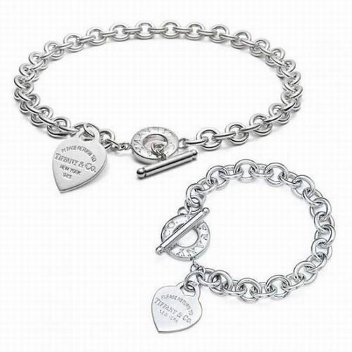 Tiffany Co Heart Tag Toggle Link Necklace Bracelet