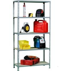 Photo of Workshop shelf M – Click 5/400 galvanized / wood, dimensions: 180 x 90 x 40 cm (H x W x D), load capacity: 150 kg
