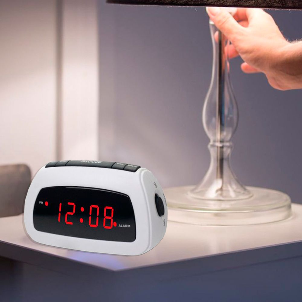 Electronic Digital Alarm Clock 9 Min Snooze Led Display Easy To