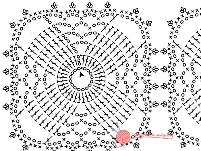 patron camino de mesa beige | crochet erika | Pinterest | Caminos de ...