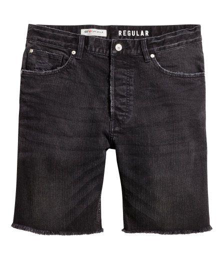 Denim Shorts   Black   Men   H&M US