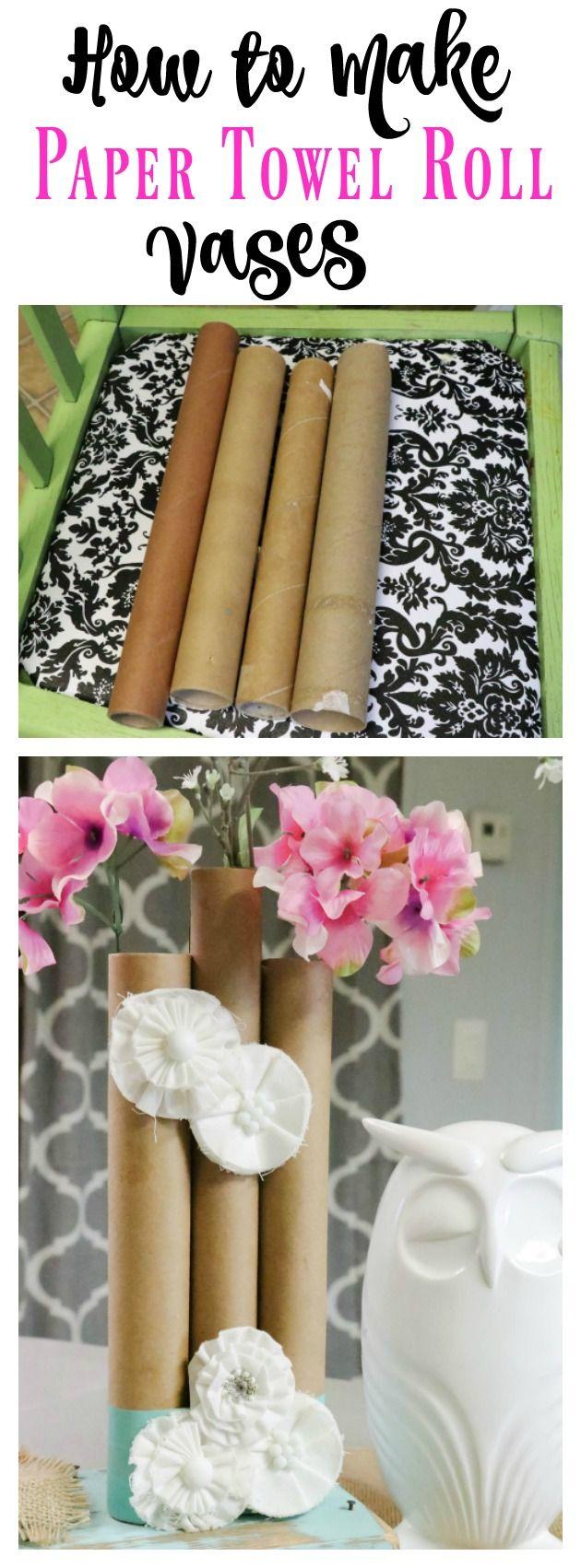 Paper Towel Roll Vases Paper towel rolls, Paper towel