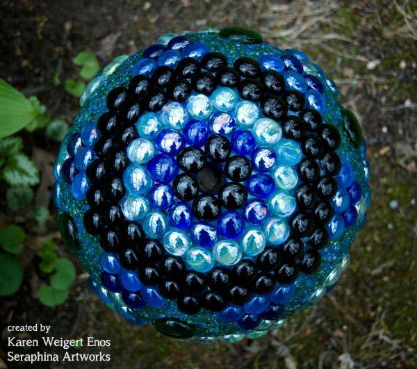 Decorative Yard Balls Garden Art Orbs With Artist Karen Weigert Enos  Garden Art