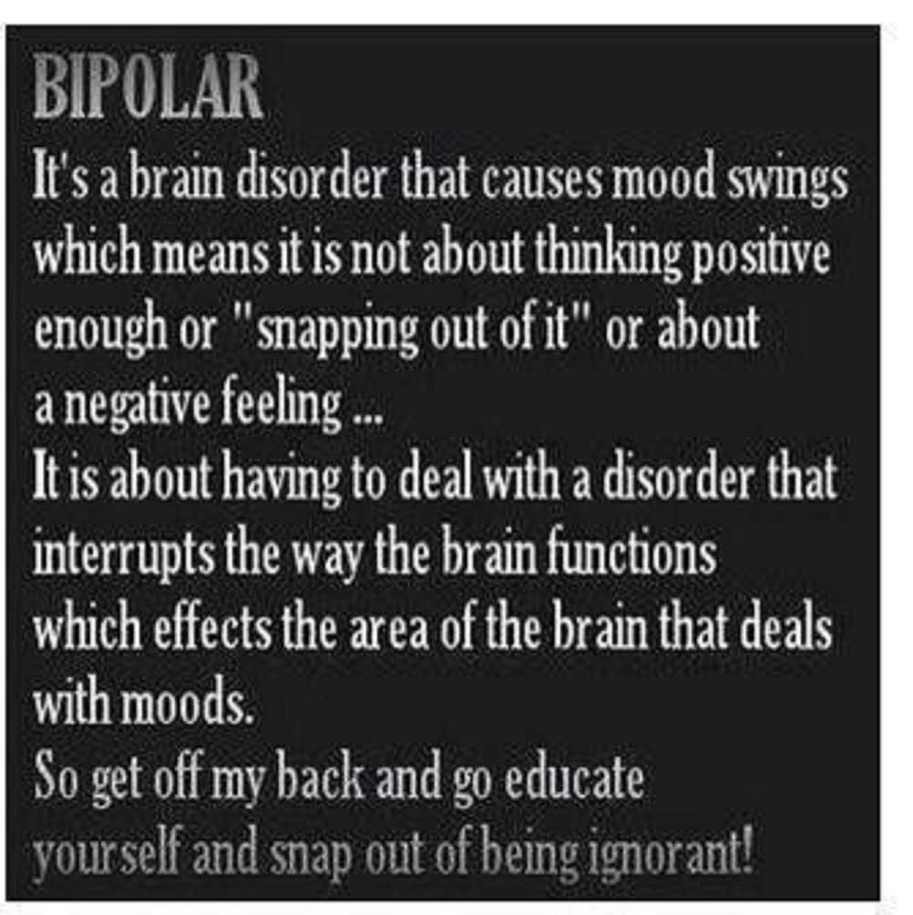 bipolar depression Bipolar disorder is a mood disorder thought to be caused by chemical imbalances in the brain that can result in extreme swings in mood—from manic highs to depressive lows the lows are bipolar depression and the highs are bipolar mania .