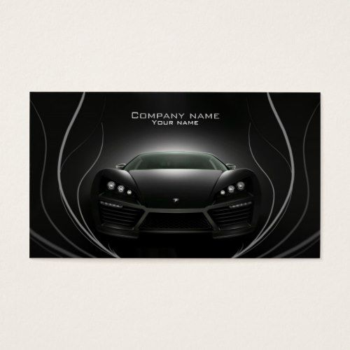 Stylish Automotive Business Card Zazzle Com Business Cards Customizable Business Cards Business Card Design