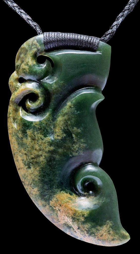 New zealand flower jade manaia by master carvers ewan